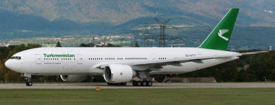 turkmenistan airlines 777-200 LR test